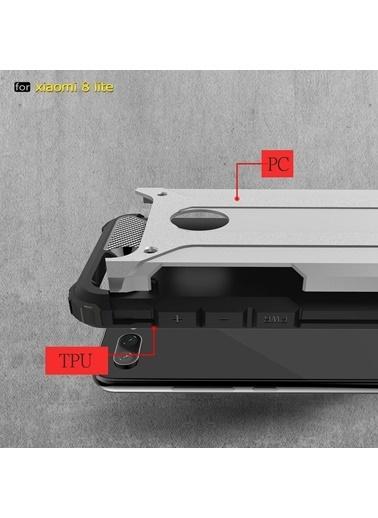 Microsonic Xiaomi Mi 8 Lite Kılıf Rugged Ar  Altın